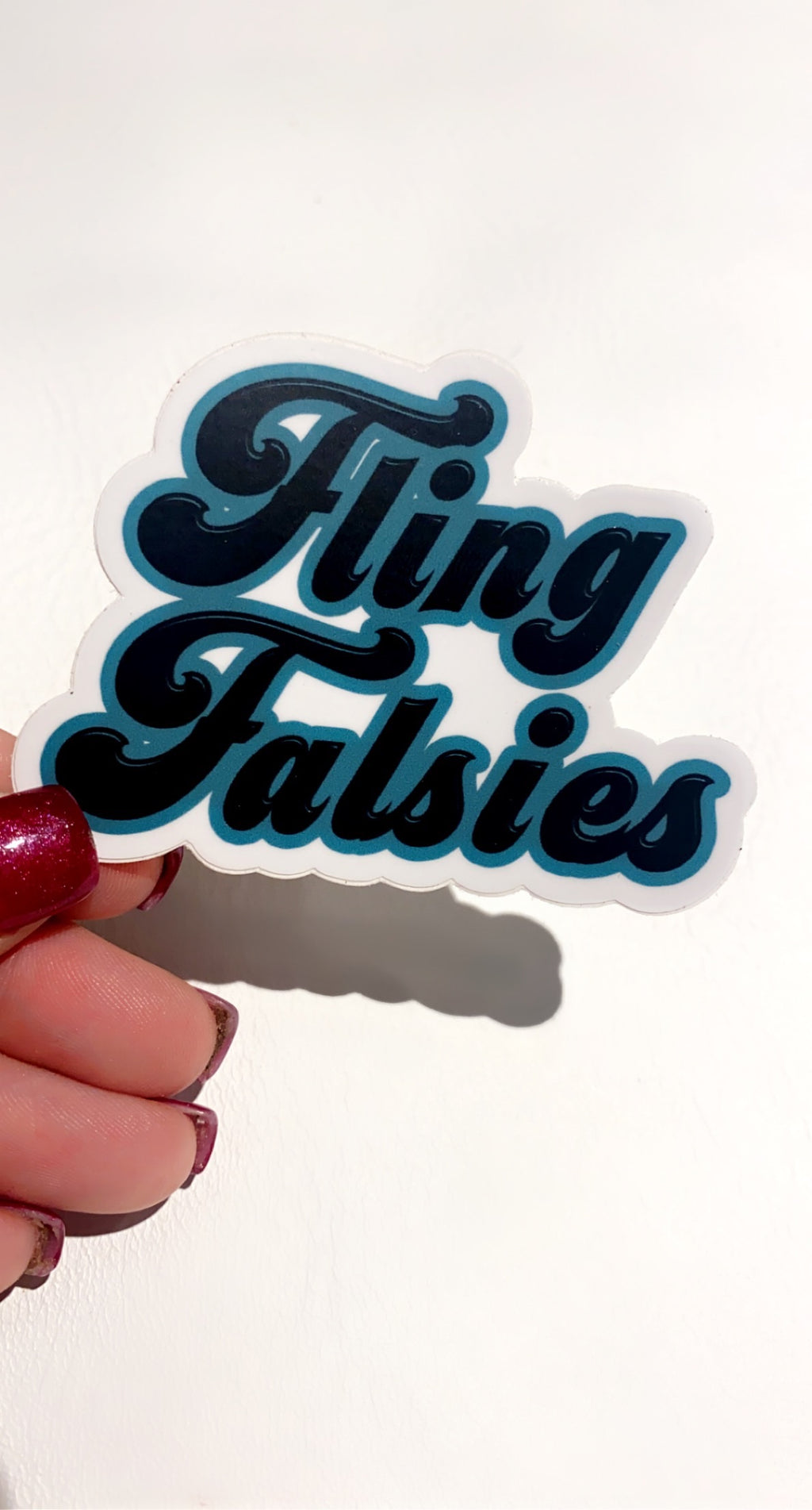 Fling Falsies Logo Sticker