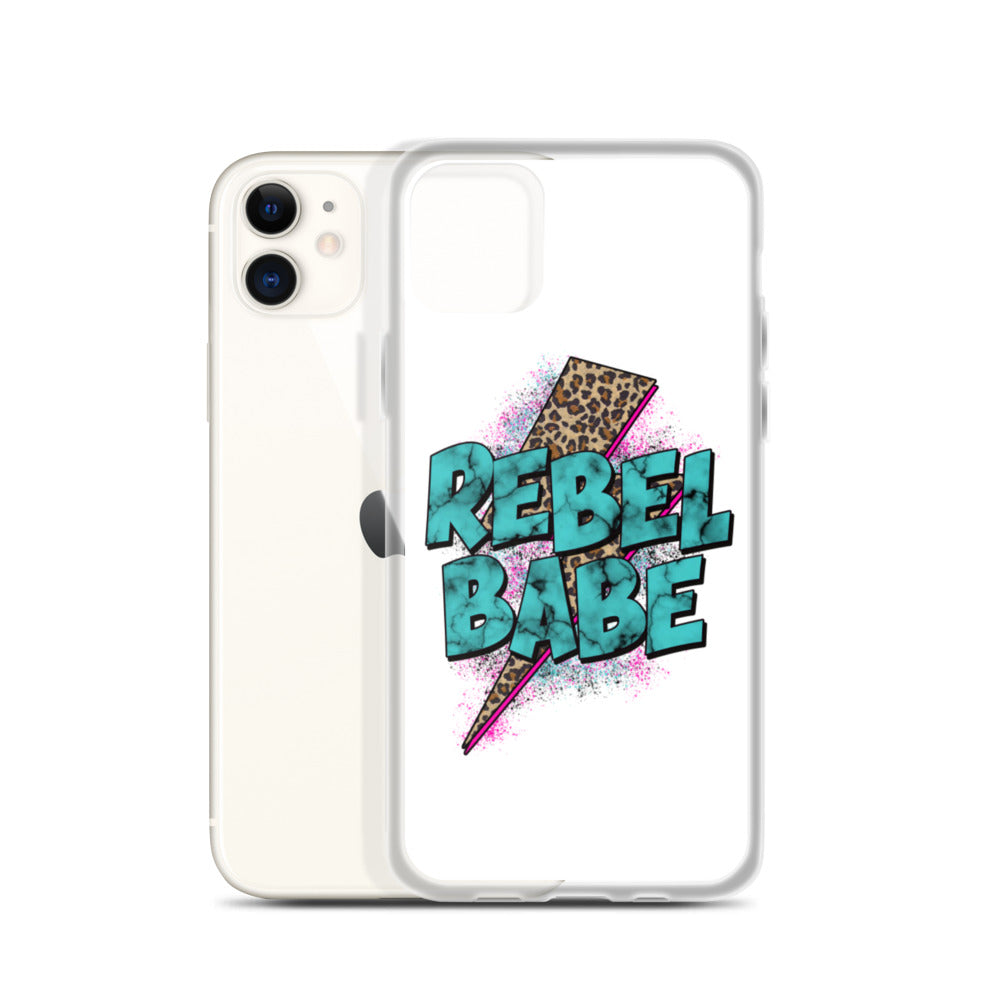 Rebel Babe iPhone Case in White