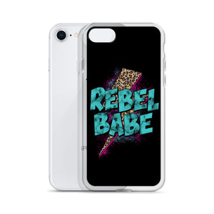 Rebel Babe iPhone Case in Black