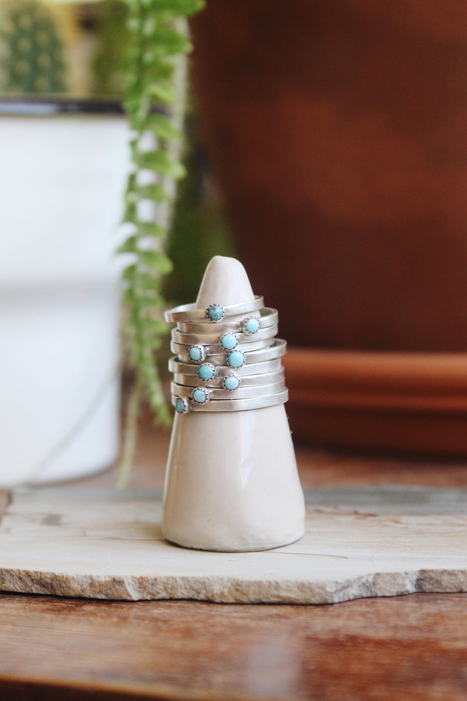 Tiny Turquoise Stacking Ring