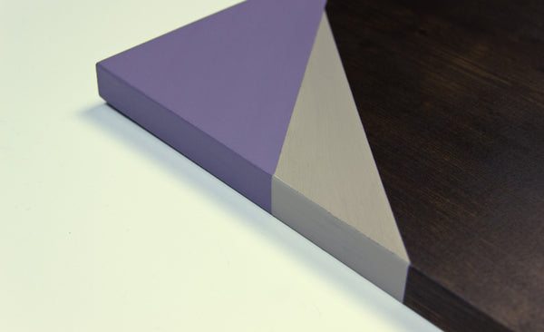 Geometric Wood Wall Art, Lilac | Espresso