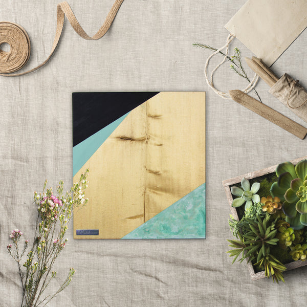 Geometric Wood Wall Art, Laurentian | Blonde