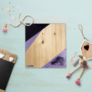 Geometric Wood Wall Art, Lilac | Blonde