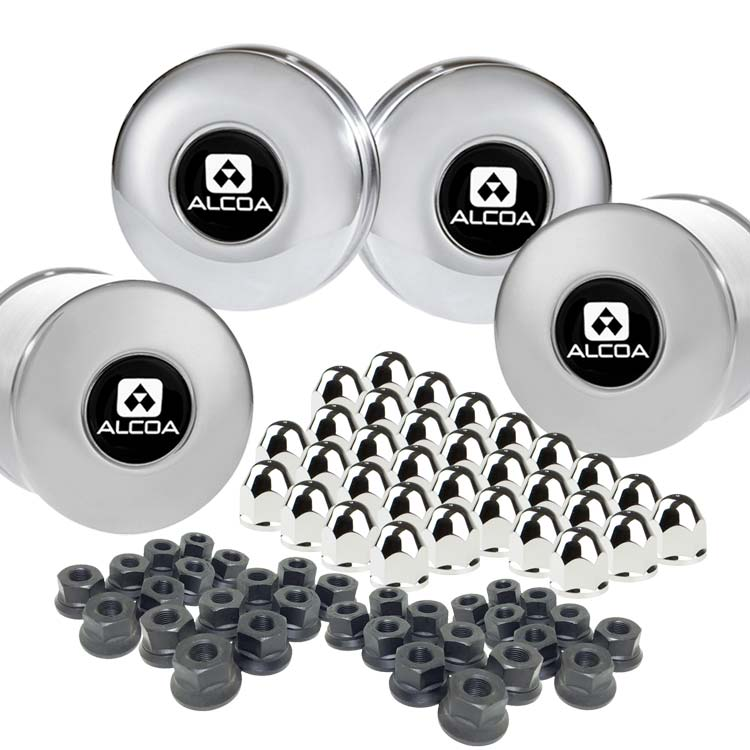 "Alcoa 8 on 6.5"" Lug & Hub Cover Kit"