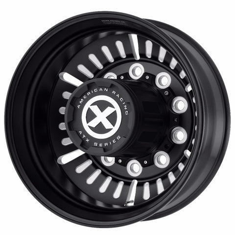 Black Aluminum Semi Truck 22.5 Wheel Dual Outer