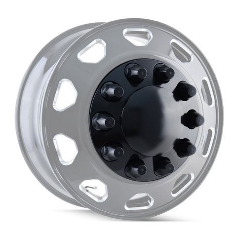 Black Rear 10 Hole Hub Pilot Rear Cover System