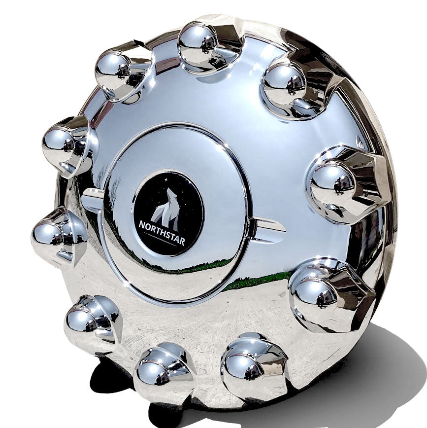 ABS Chrome Front Hub Cover for Steer 10 on 285mm