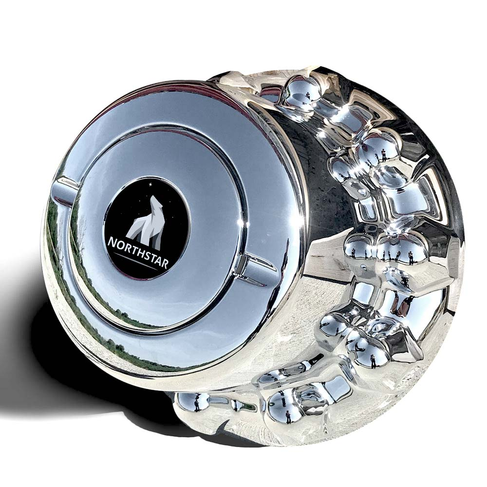 ABS Chrome Rear & Trailer Hub Cover for 10 on 285mm