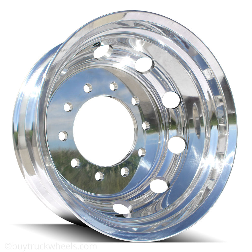 22.5 Northstar High Polished Both Sides 1994-2018 Dodge Ram 3500 DRW 10x285mm 6 Wheels With 8 To 10 Lug Adapter Kit