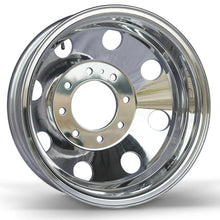 "Load image into Gallery viewer, 16x6.00 Alcoa 8x6.5"" Bolt Circle 4.60"" Center Bore Chevy High Polish Rear"