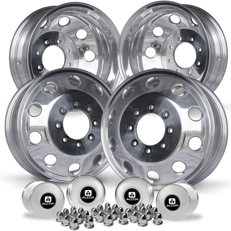 "17 Mopar OEM Polished 1994-2018 Dodge Ram 3500 DRW 8x6.5"" 4 Wheel Kit"