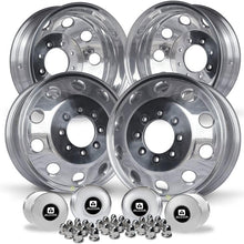 "Load image into Gallery viewer, 17 Mopar OEM Polished 1994-2018 Dodge Ram 3500 DRW 8x6.5"" 4 Wheel Kit"