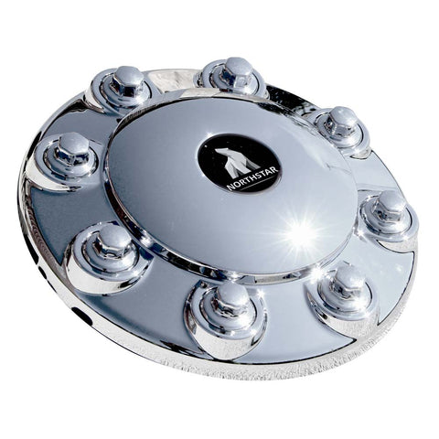 Chrome Hub Cover Kit 8x275mm 30mm Nut Direct Screw On