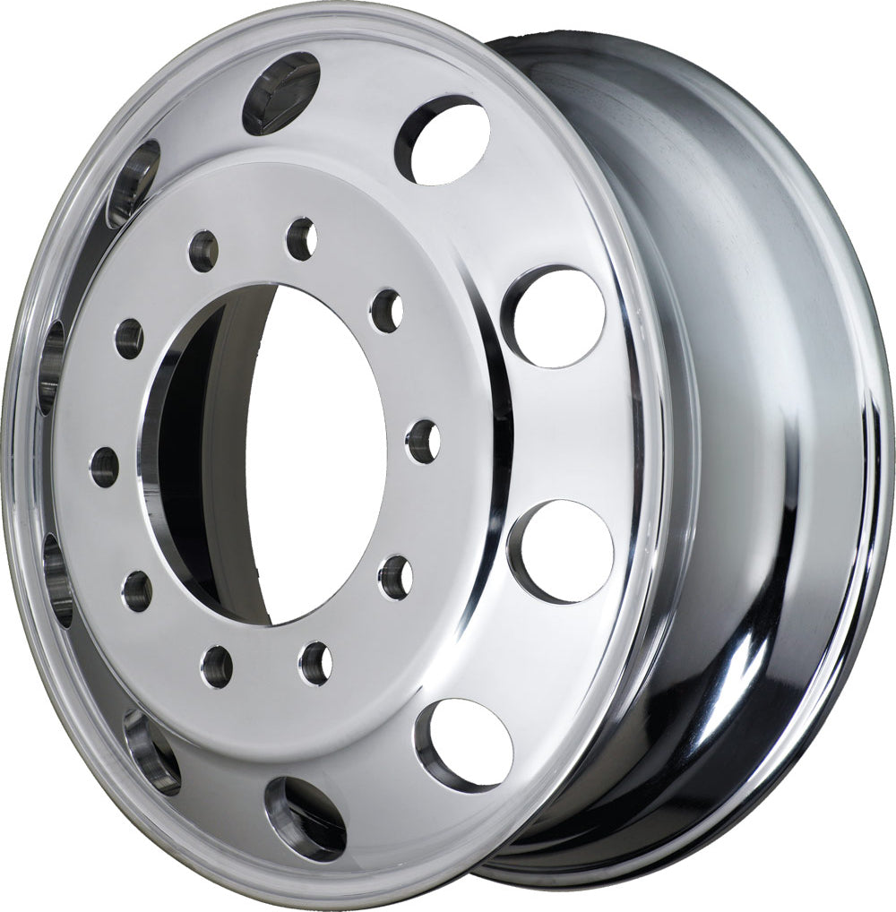 24.5 x 8.25 Accuride High Polished Both Sides Aluminum Wheel Kit