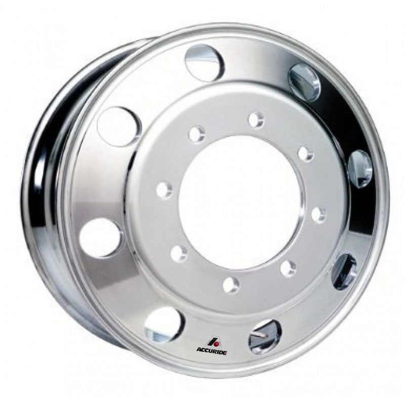 22.5x8.25 Hub Pilot Accuride Aluminum 8-Hole-Machine (Matte) Finish