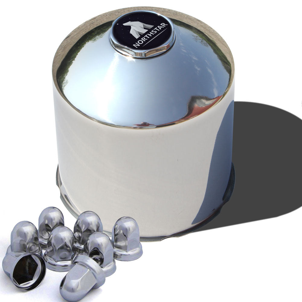 Stainless Steel Rear Northstar Hub Cover Kit for 33mm Nuts