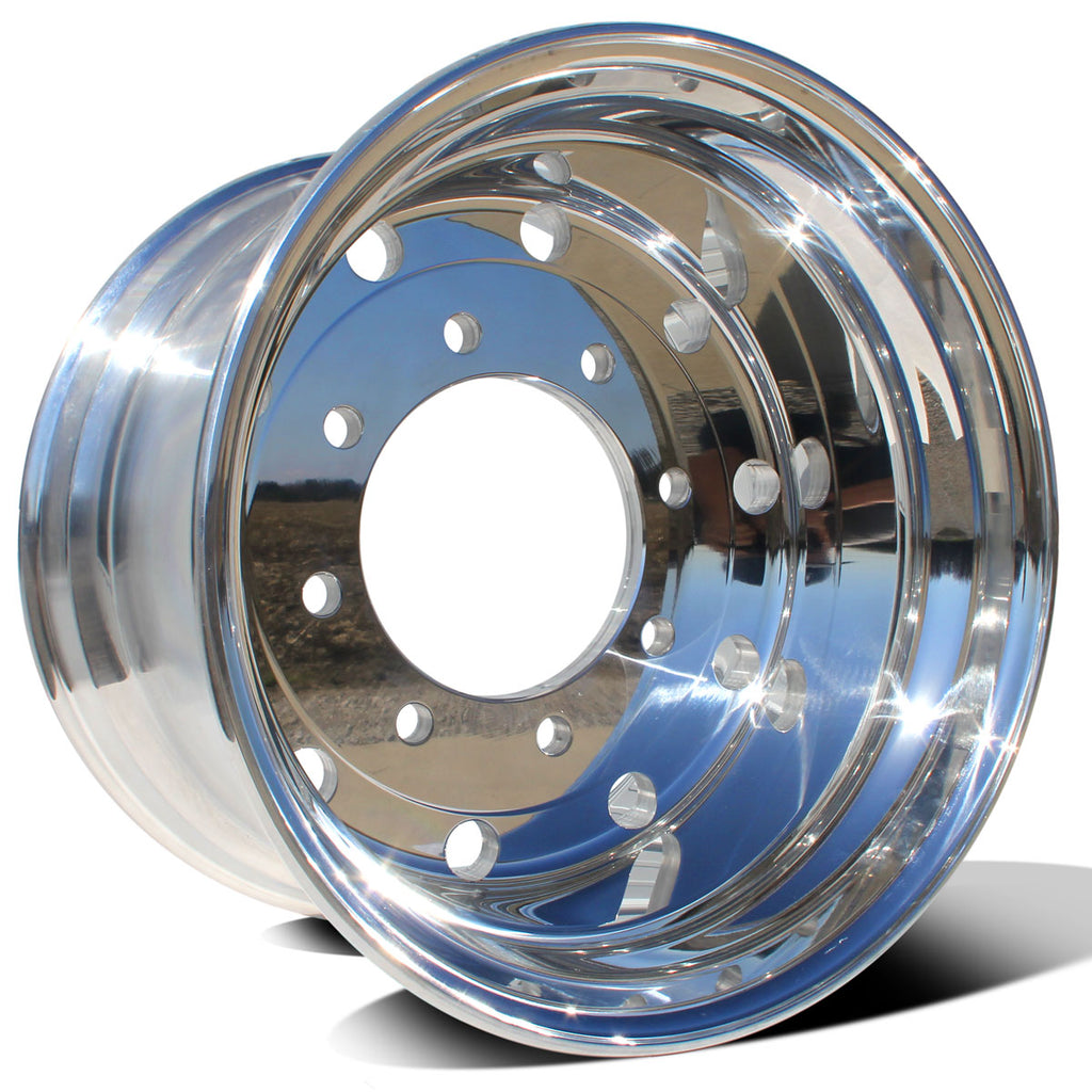 "22.5x14.00 Northstar 8x275mm Hub Pilot Mirror Polish (2"" Offset)"