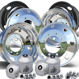 22.5x7.5 Northstar 8x275mm Hub Pilot Mirror Polished Both Sides Wheel Kit
