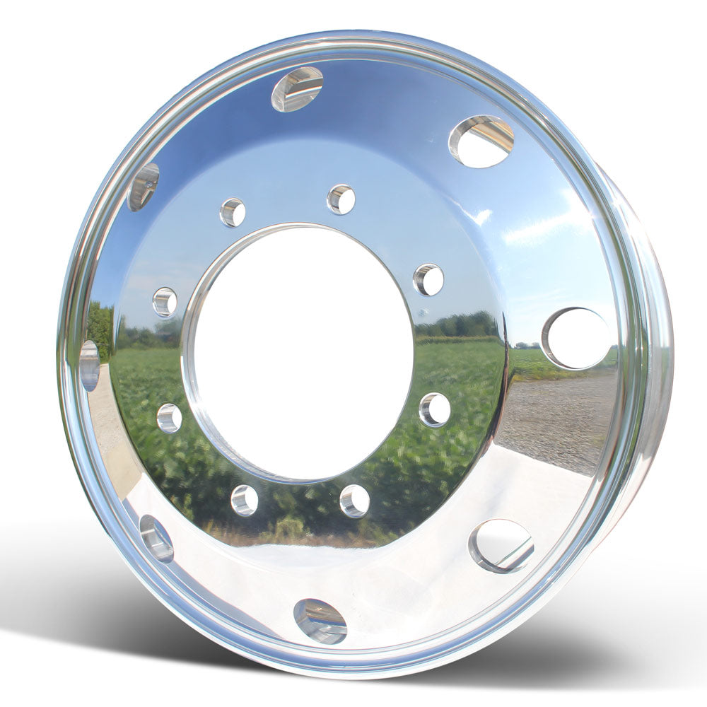 Front View 22.5x7.5 Northstar 8x275mm Hub Pilot Mirror Polished Both Sides