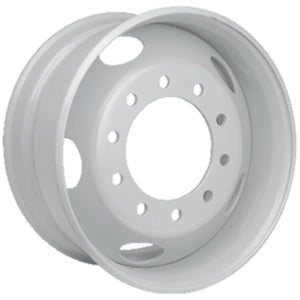 22.5x9.00  Maxion 10x285mm Hub Pilot 5 Hand Hole Flat-faced White Steel