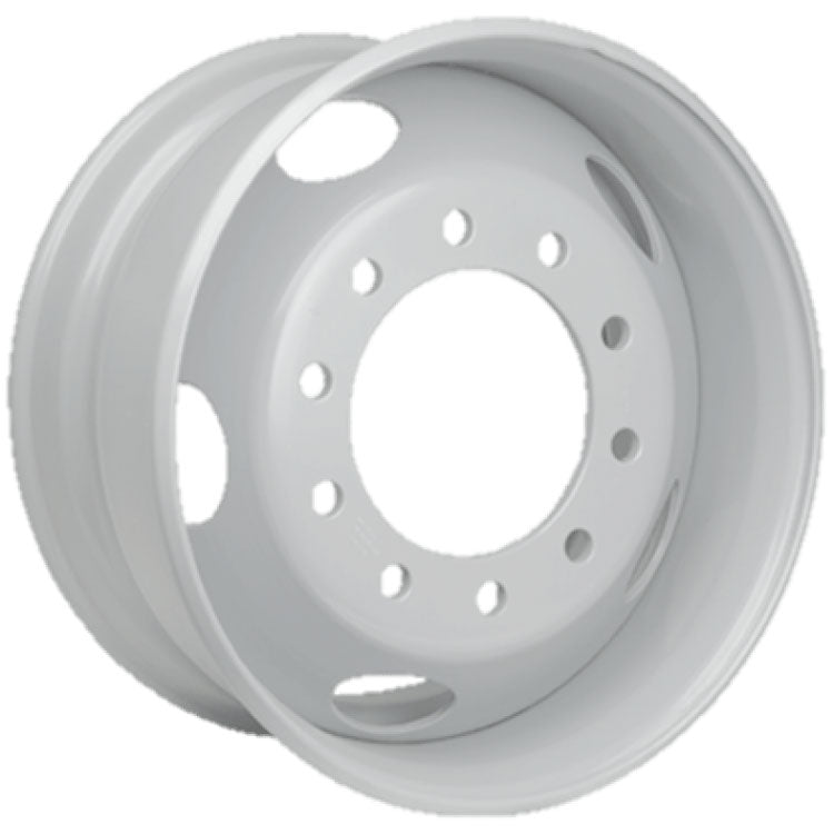 22.5x9.00 Import 10x285mm Hub Pilot 5 Hand Hole Flat-faced White Steel
