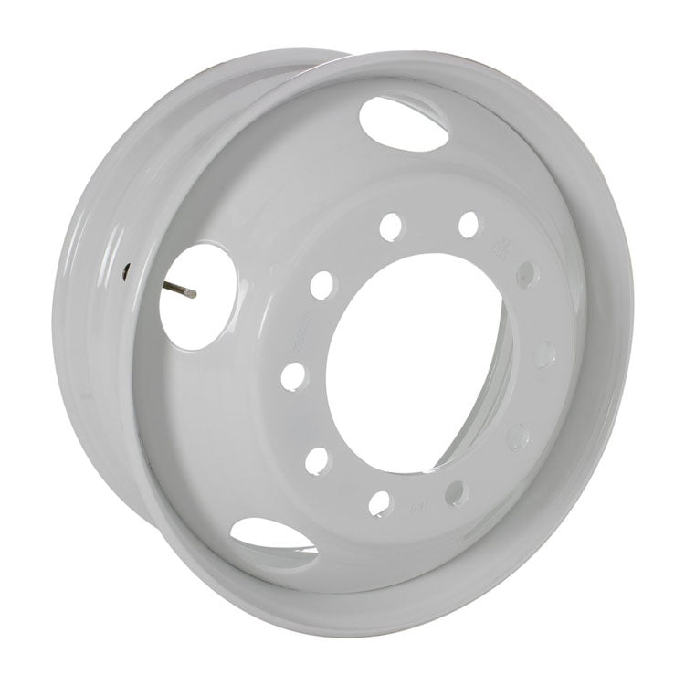 22.5x9.00 Maxion 10x285mm Hub Pilot 5 Hand Hole All Position White Steel