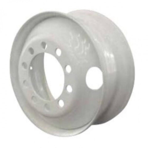 "22.5x9.00 Import 10x11.25"" Stud Pilot All Position White Steel"