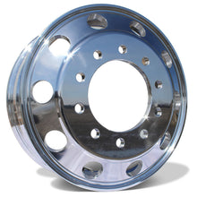 "Load image into Gallery viewer, 24"" Polished Aluminum Wheels w/ Adapter Kit and Chrome Caps (Ford F350 350 DRW 2005-Present)"