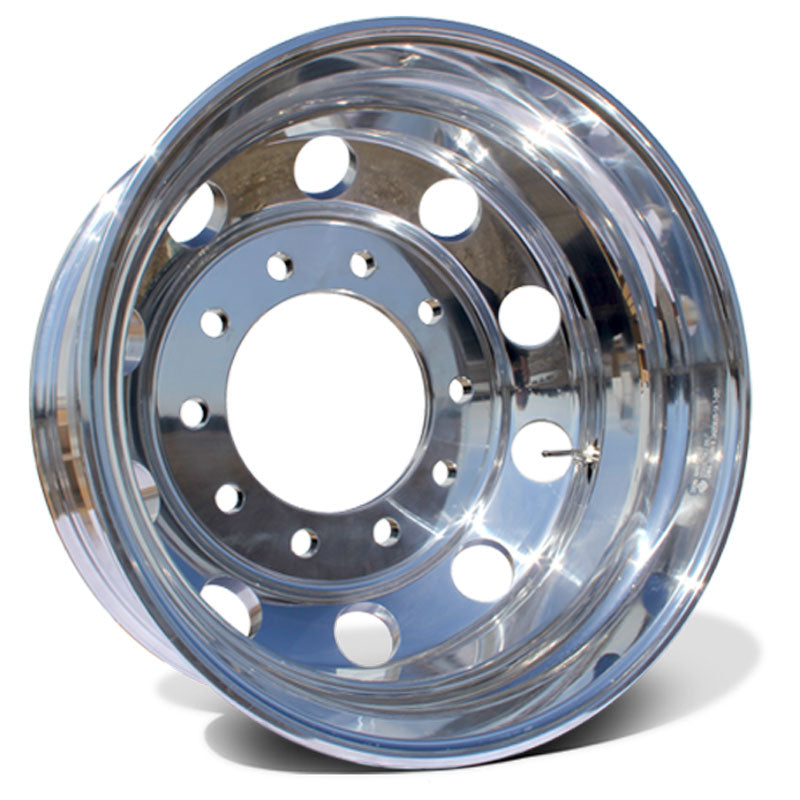 "24"" High Polished Both Sides 1977-2000 Chevy 3500 DRW 10x285.75 6 Wheels With Chrome Caps And Adapter Kit"