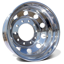 "Load image into Gallery viewer, 24"" High Polished Both Sides 1977-2000 Chevy 3500 DRW 10x285.75 6 Wheels With Chrome Caps And Adapter Kit"