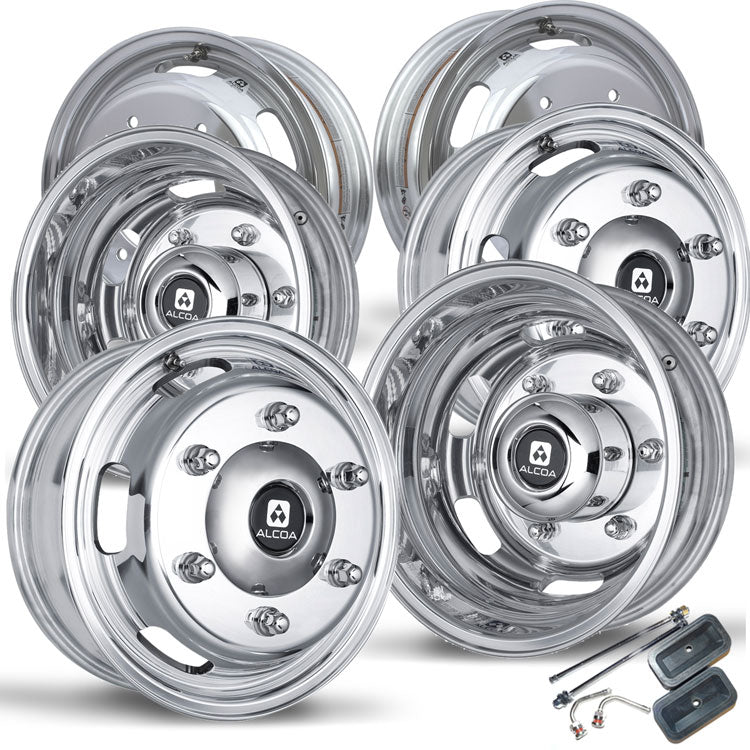 RV Parts & Accessories Alcoa 16 Dual Polished Wheel Package for a ...