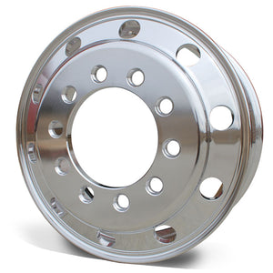 "24.5x8.25 Accuride 10x11.25"" Stud Pilot (Budd) Standard Polish Both Sides"
