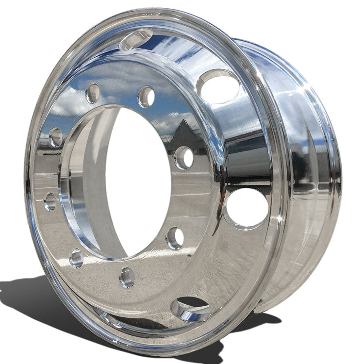 Front View Accuride Aluminum Rim 29695SP Ford F650, Freightliner Motor Homes, and International 4300 & 4700