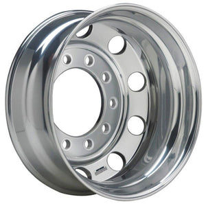 24.5x8.25 Stud Piloted Accuride Wheel-Polished In (Drive/Trailer)