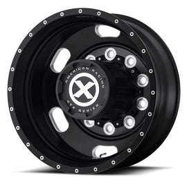Black Oval Aluminum Dual Semi Truck Wheel