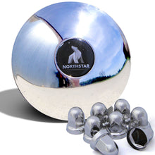 Load image into Gallery viewer, Stainless Steel Front 4 Spline Northstar Hub Cover Kit for 33mm Nuts
