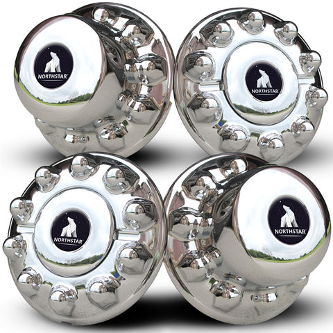 ABS Chrome Hub Cover Set for 10 on 225mm