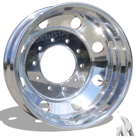 19.5X6.00 Northstar 10X225MM Hub Pilot High Polish Both Sides