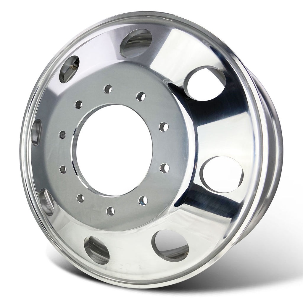 19.5x6.75 Northstar Mirror Polished Dodge Ram 4500/5500 & Ford F450/F550 (2005-Present) 10x225mm 6 Wheel Kit
