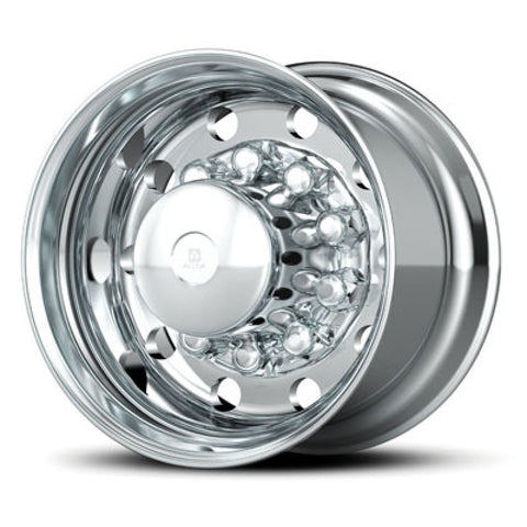 22.5x14 Hub Piloted X-ONE Alcoa Wheel-Polished In (Drive/Trailer)