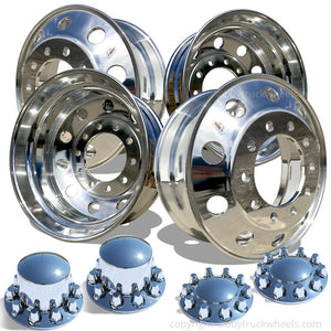 22.5 Accuride High Truck Wheels Chrome Hub Covers
