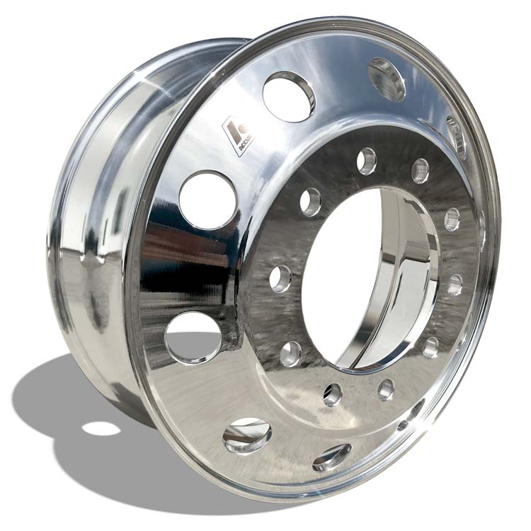 22.5x8.25 Accuride Quantum 99 Lightweight 10x285mm Hub Pilot High Polish Both Sides