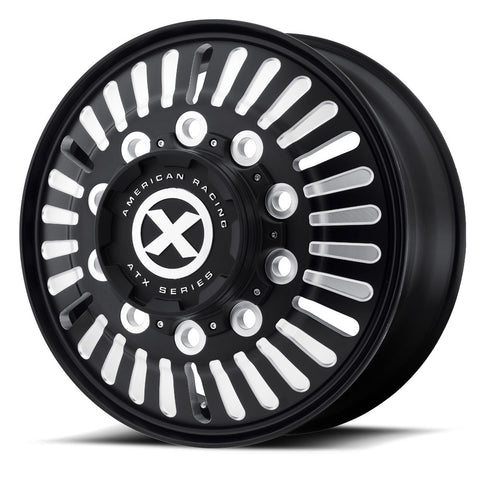 Black Aluminum 22.5 Semi Truck Wheel