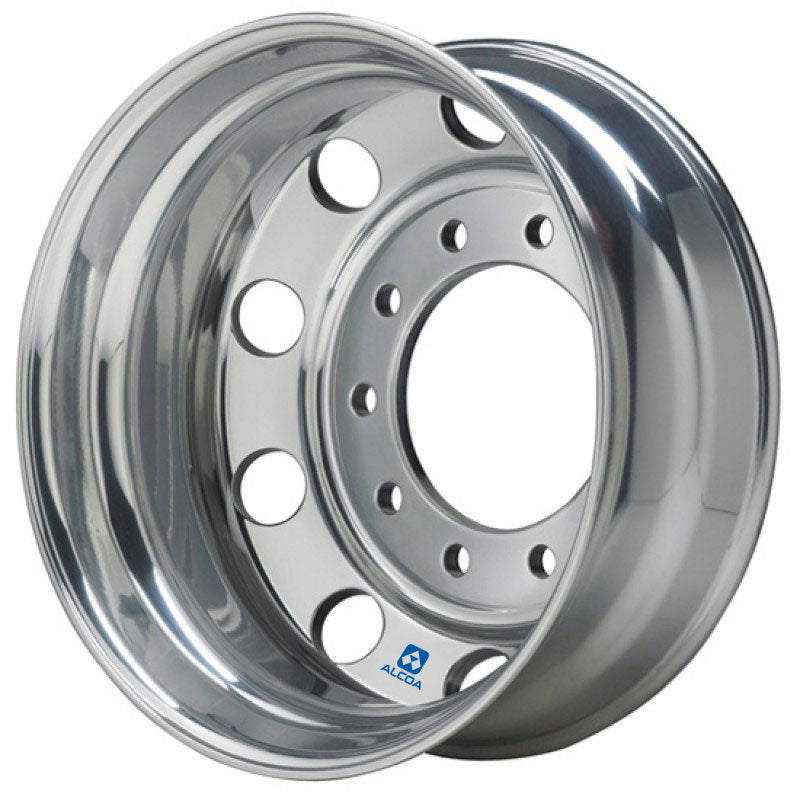 19.5x7.5 Hub Piloted Alcoa Wheel-Polished In (Drive/Trailer)
