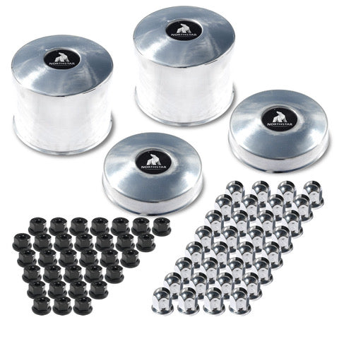 "Northstar 8x6.5"" Hub & Nut Cover Kit (Ford, Chevy, Dodge)"