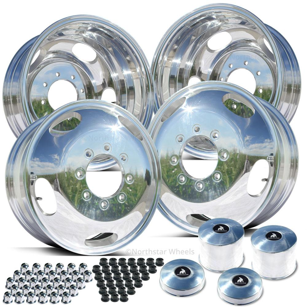 17.0x6.50 Northstar Polished Both Sides Ford F350 DRW 8X200m Kit (2005-Present)