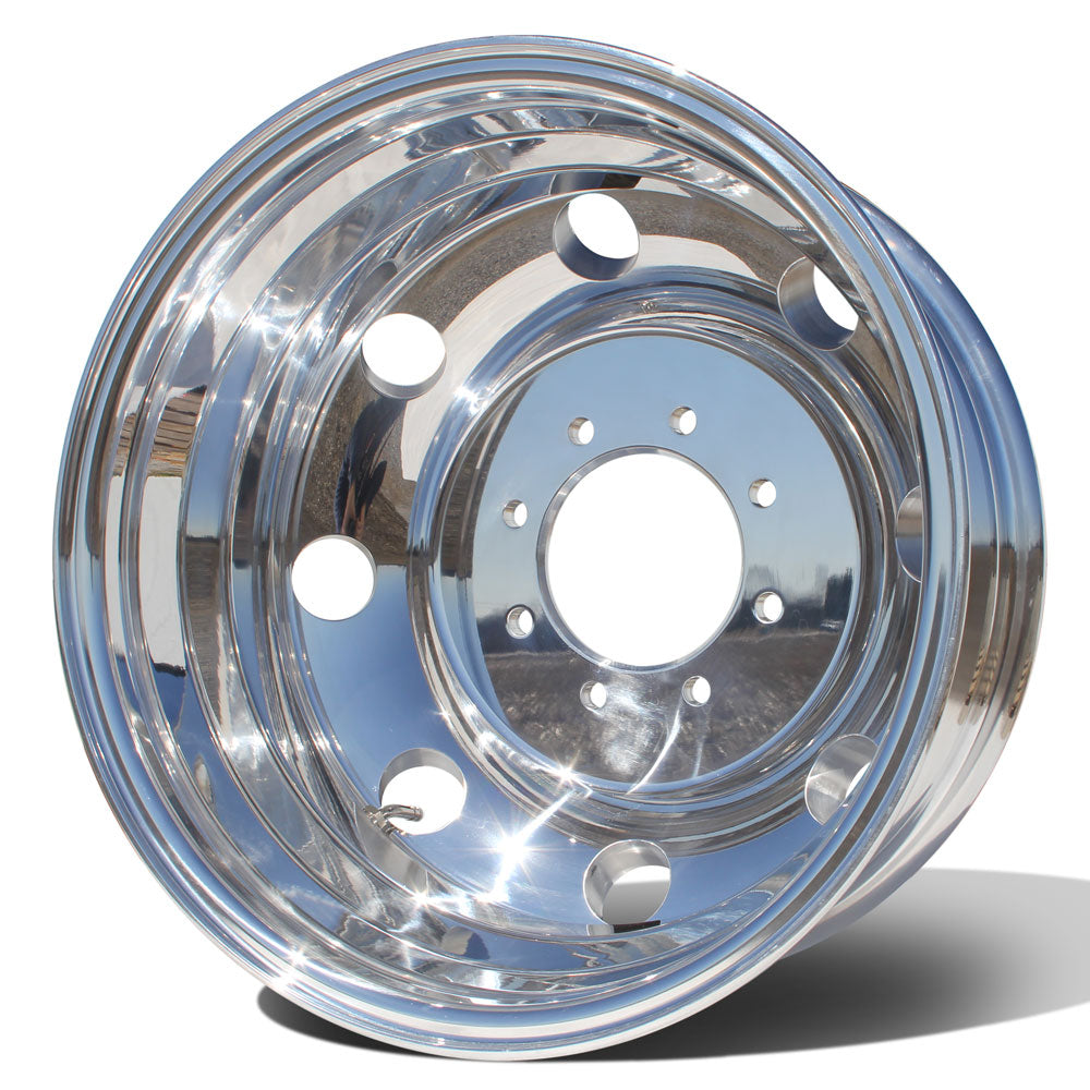 "Northstar High Polished Both Sides 1994-2018 Dodge Ram 3500 DRW 8X6.5"" 4 Wheel Kit"