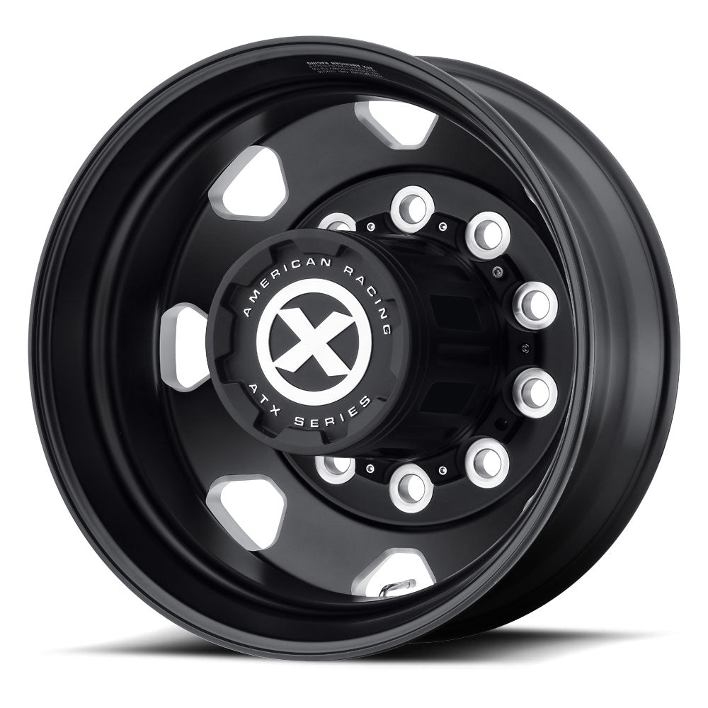 Black ATX Aluminum Semi Truck 22.5 Dual Wheels