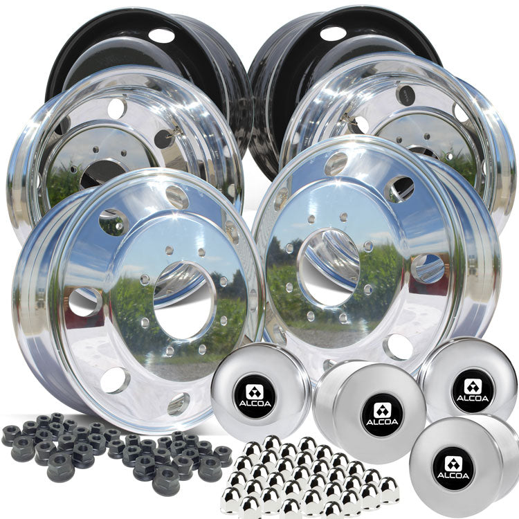 "19.5 Northstar High Polished Both Sides 1994-2018 Dodge Ram 3500 DRW 8x6.5"" 6 Wheel Direct Bolt Kit"