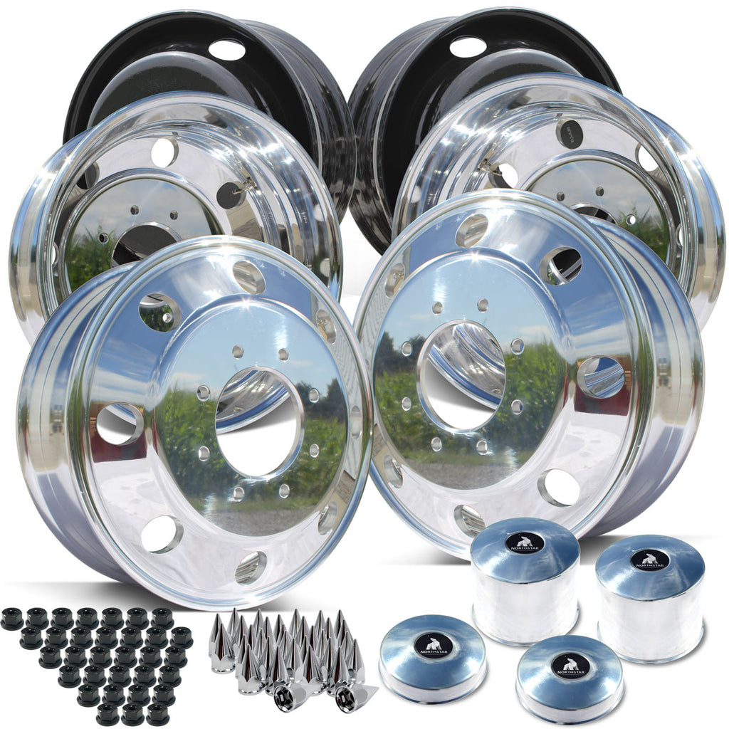 19.5 Northstar Polished Both Sides Ford F350 DRW 8X200m Kit (2005-Present)